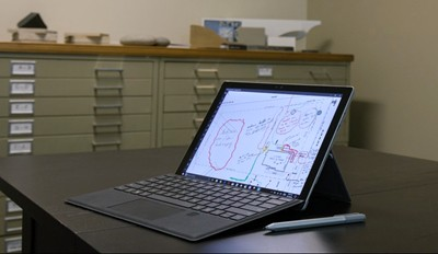 Surface Pro 4 is landscape designer