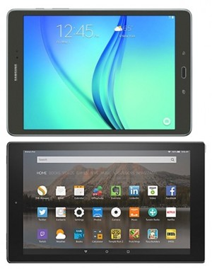Samsung Galaxy Tab A 9.7 vs Amazon Fire HD 10