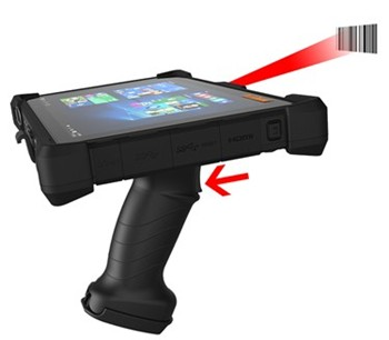 Scan Handle Transforms Rugged Tablet into Barcode Scanner