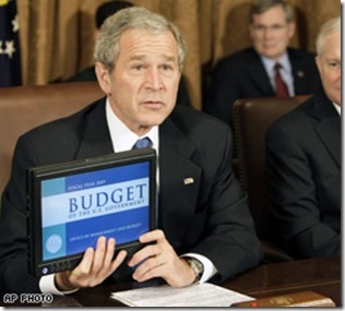 President Bush with Dell Tablet PC
