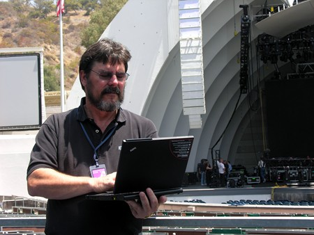 Lenovo X61 Tablet PC at the Hollywood Bowl
